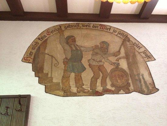 Weingut Karl Heidrich: A mural on the wall inside