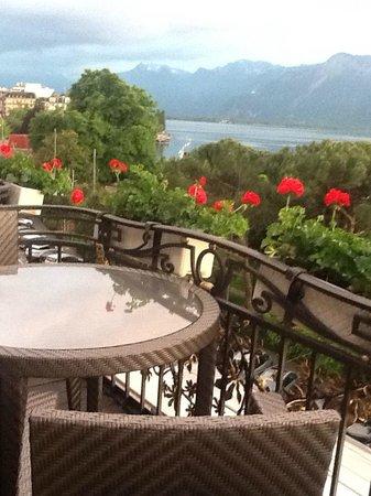 Grand Hotel Suisse Majestic : Vista desde el restaurante