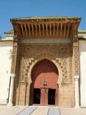 Mausoleum of Mouley Ismail: gate to the Mausolem
