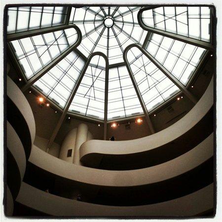 Solomon R. Guggenheim Museum: Looking up...
