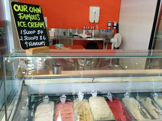 Witches Chase Cheese: Yummy ice-cream selection
