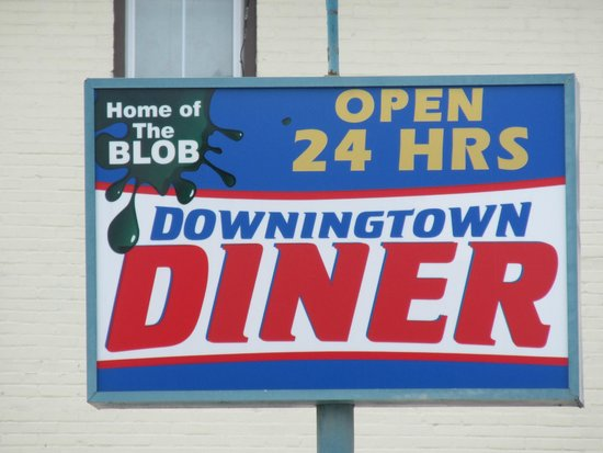 Downingtown Diner: Sign on the street
