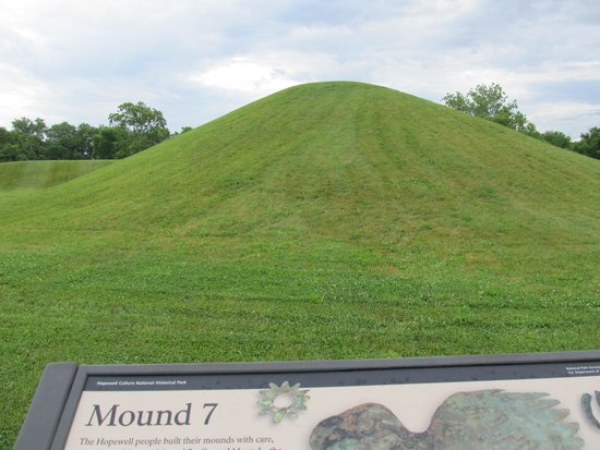 Hopewell Culture National Historical Park: One of the mounds