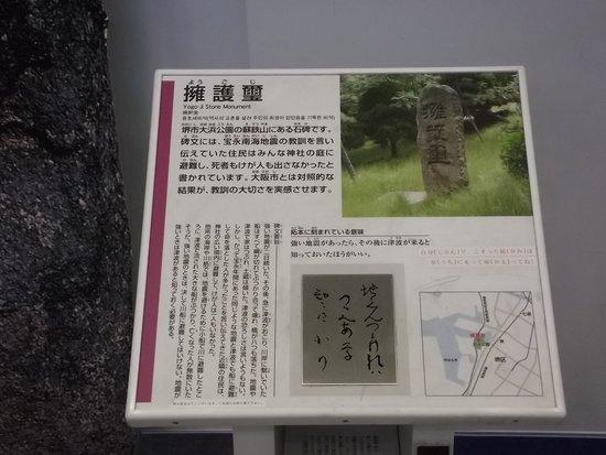 Tsunami and Storm Surge Disaster Prevention Station: 石碑の解説板 (一例)