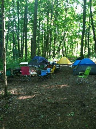 Summersville Lake Retreat : Our campsite