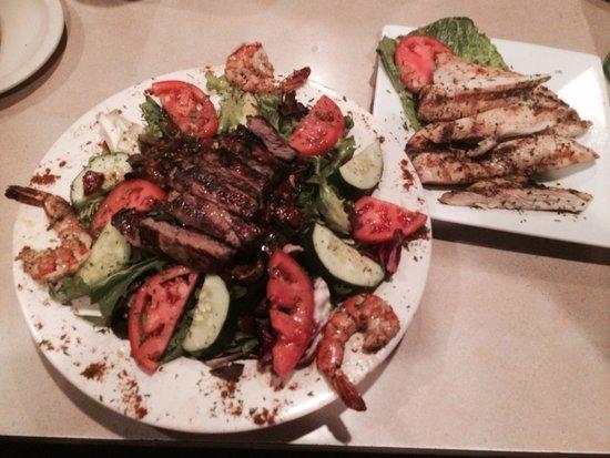 Zoe: Surf & Turf Salad is SO DELICIOUS!!!