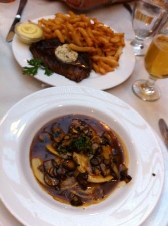 L'Express: steak & fries, home made raviole