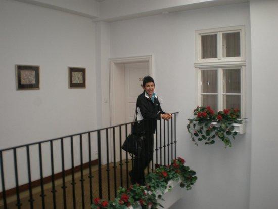 Hotel Pod Vezi: entrada a la habitación