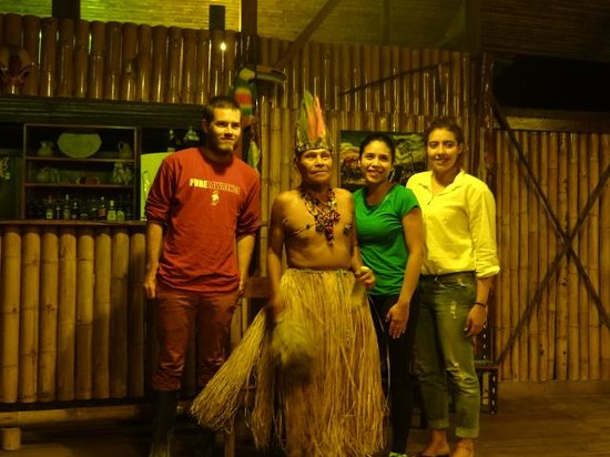 Anaconda Lodge Ecuador: Our Guest with Shaman Shanya