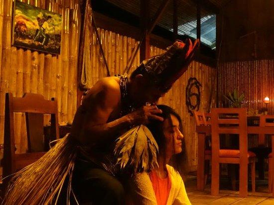 "Anaconda Lodge Ecuador: Our Guest from Australia doing a ""Limpia"""