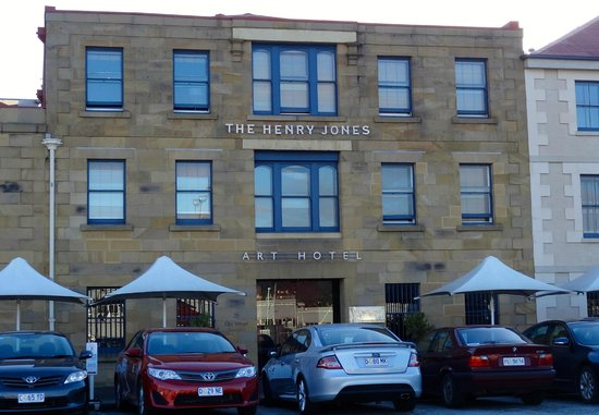 The Henry Jones Art Hotel: The whole street front is stunning - including the hotel