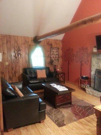Hocking Hills Cabins: Sunset's living room!