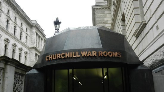 Churchill War Rooms: ground level entrance