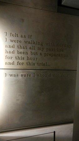 Churchill War Rooms: Churchill quote