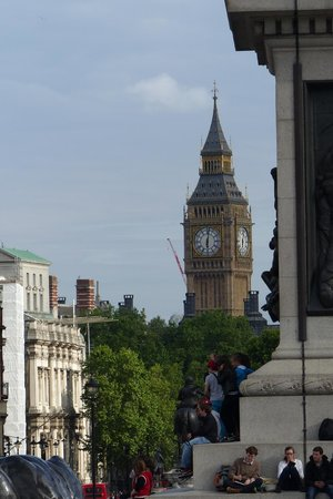 Big Ben (Torre del Reloj): Elizabeth Tower seen from Trafalgar Square