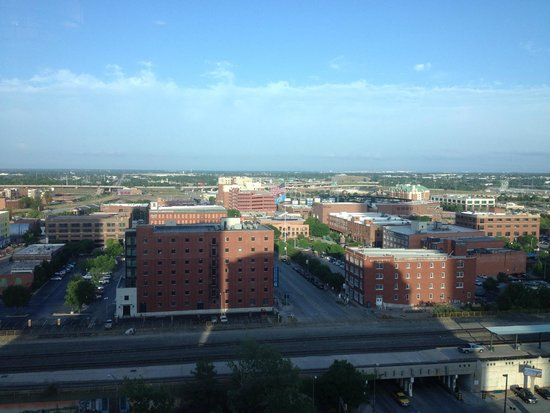Renaissance Oklahoma City Convention Center Hotel: Over view of Bricktown from the room