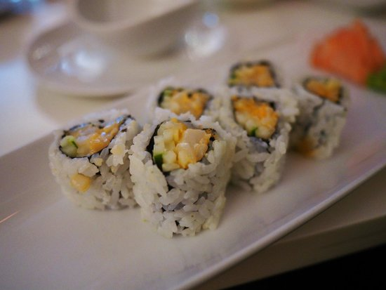 Nabuki: Spicy scallop roll