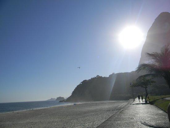Sao Conrado Beach: O sol já está querendo se pôr.