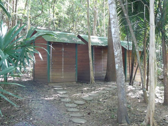 The Lodge at Chaa Creek: Bathroom at Chaa Creek's Macal River Camp