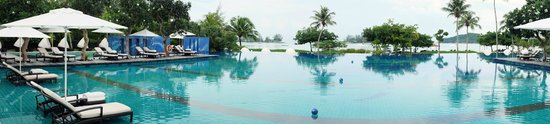 The Danna Langkawi, Malaysia: pool at breakfast time