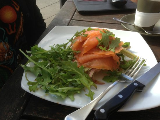 Salty Squid Cafe: Smoked Salmon on Sour Dough