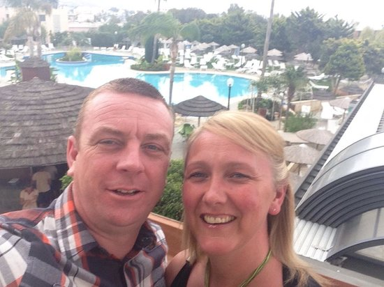 Atlantica Bay Hotel: On our balcony overlooking the pool