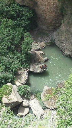 El Tajo de Ronda: Farbe des Wassers von oben