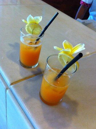Melia Bali Indonesia: Welcome drinks