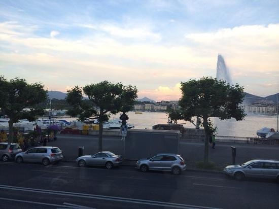 view from Le Grill at Kempinski, Geneva...