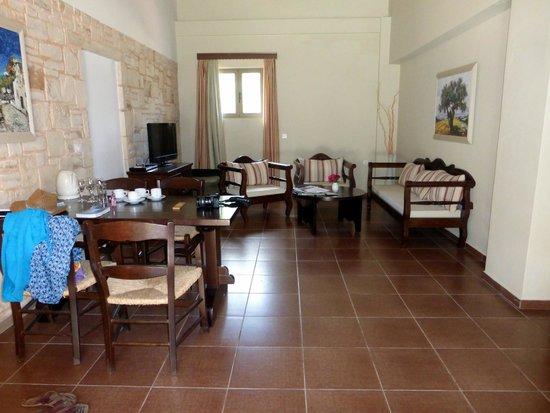 Living room in Cretan Villa