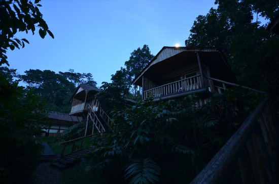 Buhoma Lodge: The lodge by moonlight.