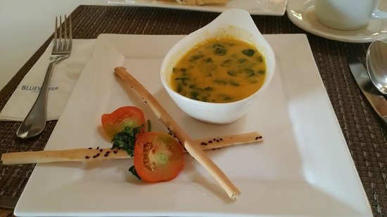 Bluewater Maribago Beach Resort: Malunggay pumpkin soup