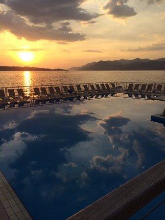 Hotel Dubrovnik Palace: fantastic sunser