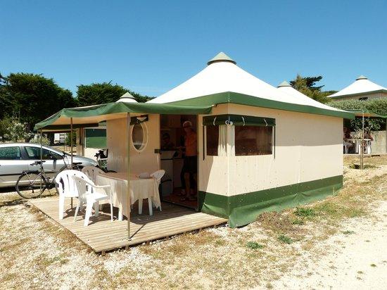 Camping Campéole Les Amis de la Plage : vue générale de nôtre pagan