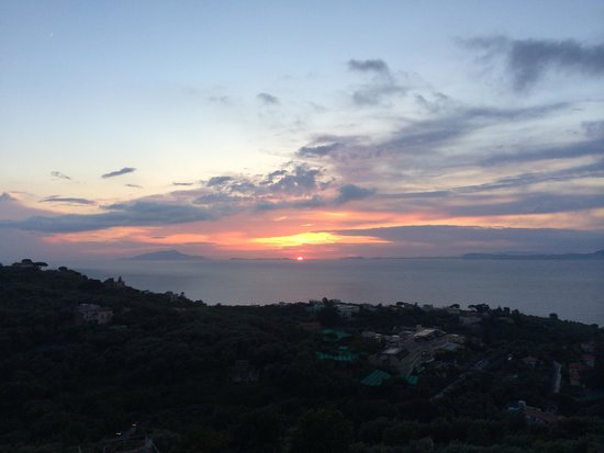Grand Hotel Aminta: Sunset from balcony