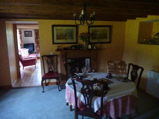 Tremaine Farm: dining area