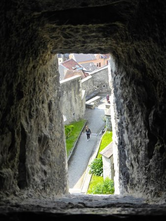 Chateau Fort de Lourdes : Looking through the windo