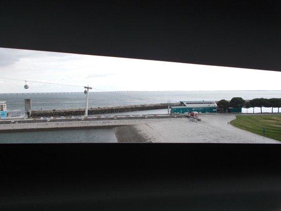 Lisbon Oceanarium : Vista sul Tago e teleferica