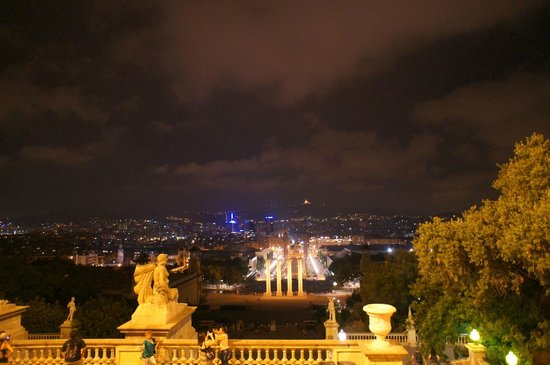 Parc de Montjuic: Вид на город