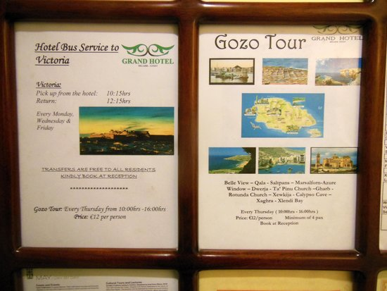 Grand Hotel Gozo: A very good Gozo tour