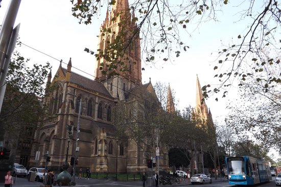 St Paul's Cathedral: The Swanston Street side of the Cathedral