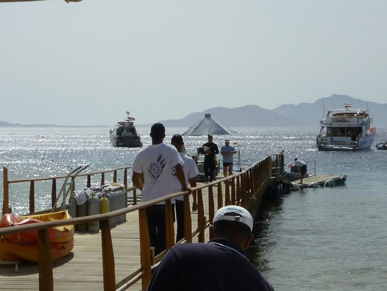 Four Seasons Resort Sharm El Sheikh: Resort jetty with MY Virginia in the background
