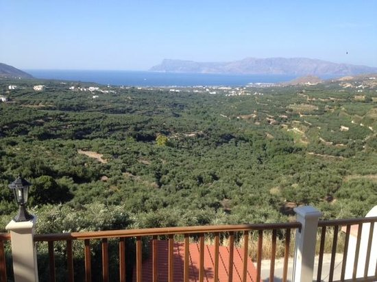 Villas Libra: View over olive groves to the coast