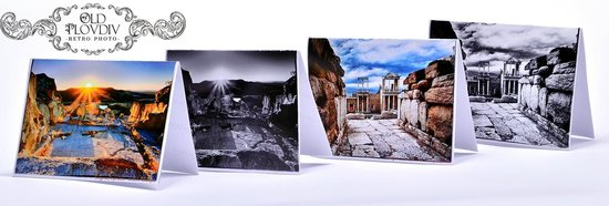 Plowdiw, Bulgarien: Our handmade cards with original photographs