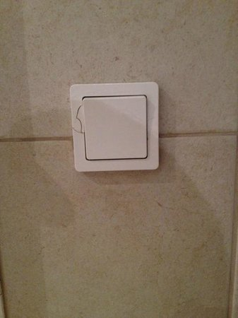 Adina Apartment Hotel Copenhagen: Cracked Switch