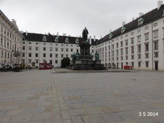 The Hofburg courtyard