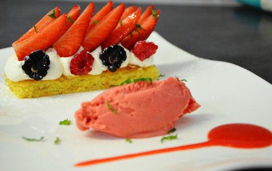 Le Gasquet: sablé aux fraises