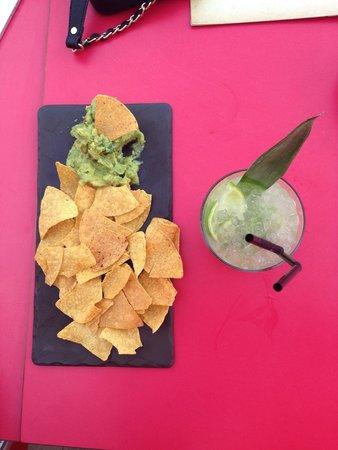 Jalapenos: Guacamole with tortilla chips and a caipirinha - perfect combination!
