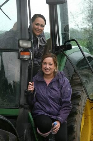 Farm Adventure: The land girls in a Tractor Grand Prix