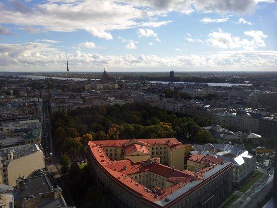 Radisson Blu Latvija Conference & Spa Hotel: Utsikt fra heisen i topp etg.